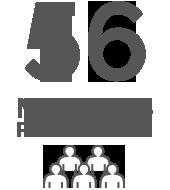 56 membres permanents